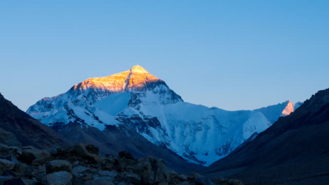 Mt. Everest at Sunset. video