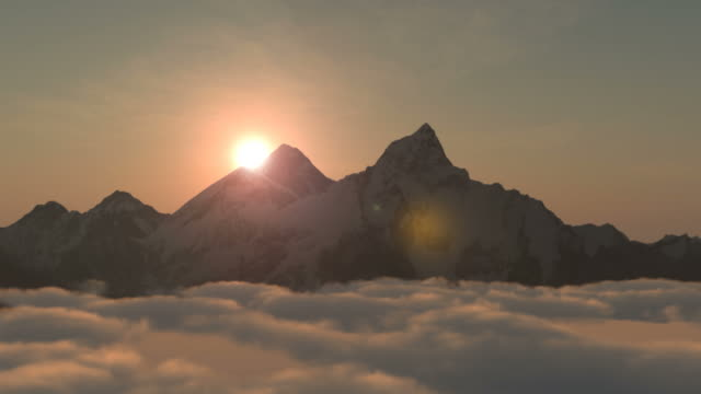 Mt Everest or Chomolungma at sunrise video