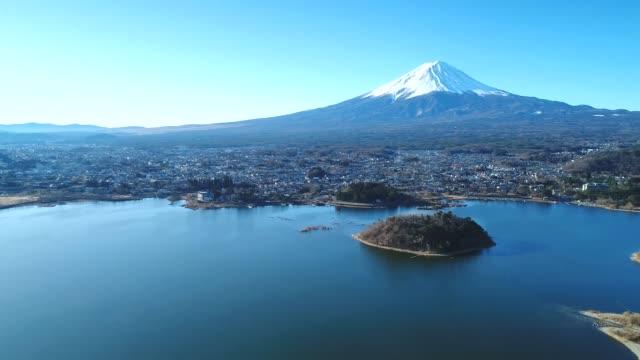 vidéos et rushes de photographie aérienne du mont fuji - fuji yama