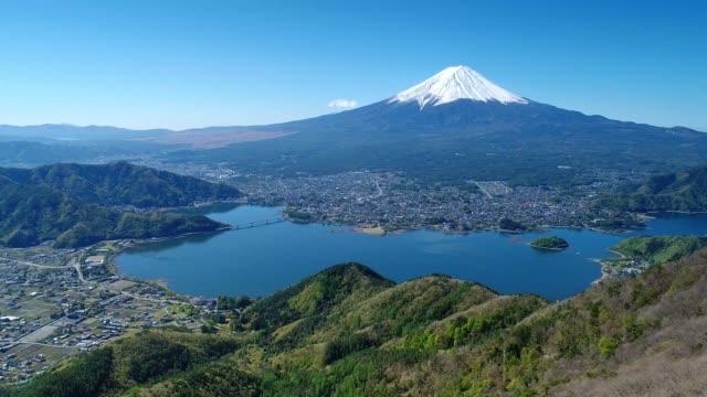 富士山と河口湖 - 富士山点の映像素材/bロール