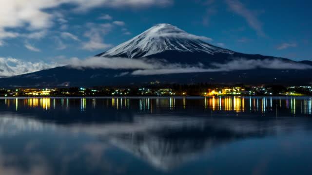 mt. fuji in japan - obiekt światowego dziedzictwa unesco filmów i materiałów b-roll