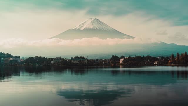 河口湖の富士山 - 富士山点の映像素材/bロール
