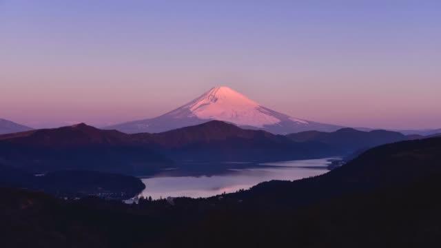 黎明の富士山 - 富士山点の映像素材/bロール