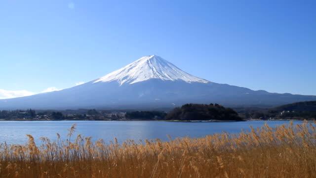 vidéos et rushes de mont fuji en journée venteuse-vidéo - fuji yama