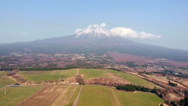 vidéos et rushes de mt. fuji rural aerial footage (en) - fuji yama