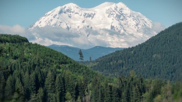 Mt Rainier Mineral Lake Timelapse Pan Up