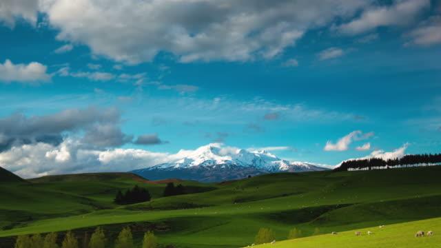 TIME LAPSE: Mt Ruapehu Volcano, New Zealand Landscape video