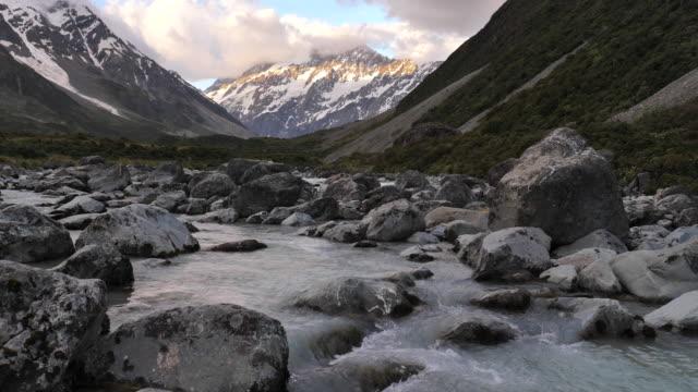 Mt.Cook hooker valley in New Zealand