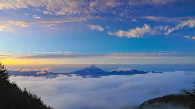 富士山と雲の海 - デジタル合成点の映像素材/bロール