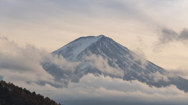 Mt.Fuji with clouds time lapse Mt.Fuji with clouds time lapse mountains in mist stock videos & royalty-free footage
