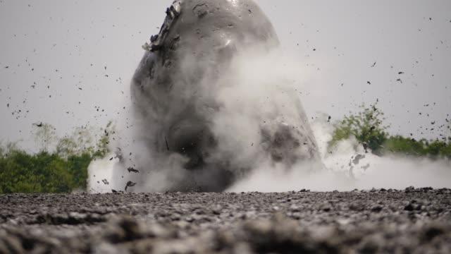 Mud volcano Bledug Kuwu, Indonesia