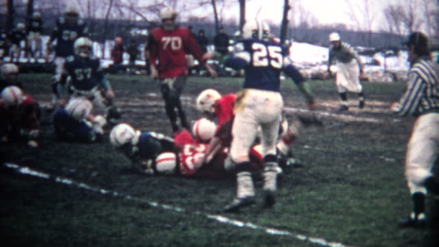 (8mm Vintage) Muddy Football Game video