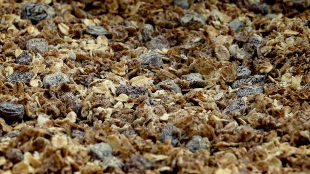 Muesli Cereal Rotating Closeup video