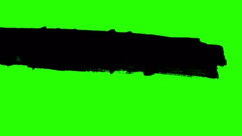 vídeos y material grabado en eventos de stock de transición de splash resumen tinta pintura pincel trazo horizontal negro de multi en croma clave pantalla verde de fondo, animación de pintura - verde color