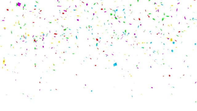 multi-color-konfetti-explosion. - confetti stock-videos und b-roll-filmmaterial