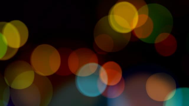 multi colore sfocato luci, hd looping elemento - soft focus video stock e b–roll