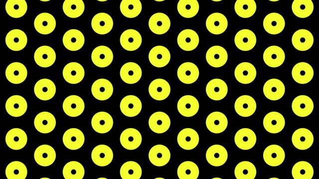 4k multi color led circle light infinite loopable - nervi digitali video stock e b–roll