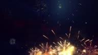 istock Multi color Multiple shape Fireworks Explosion display sky night Seamless Loop 1214441746