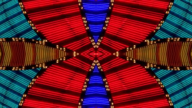 Multi Color Neon Frame - Macau, China video