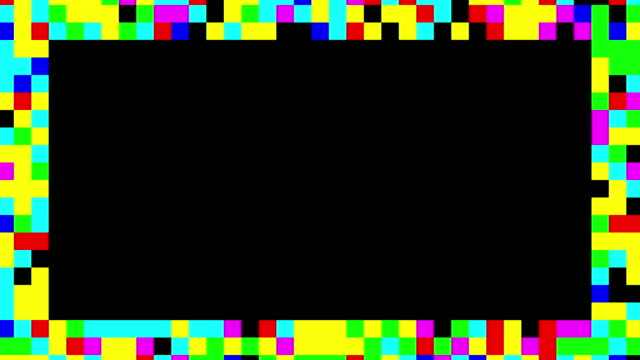 Multi colored blinking squares frame video
