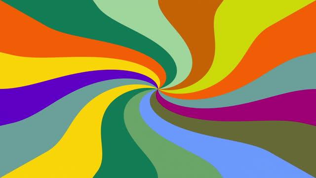 Multi colored blinking swirling pattern