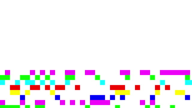 Multi colored digital noise signal video