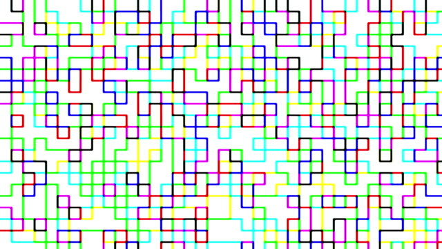 Multi colored digital squares pattern video