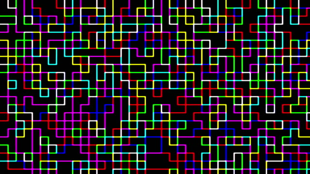 Multi colored digital squares pattern video