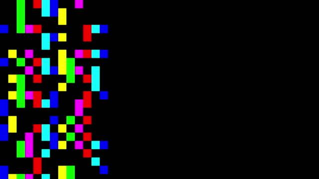 Multi colored digital squares signal video