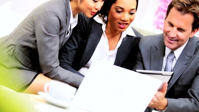 Multi Ethnic Business Team Close Up video