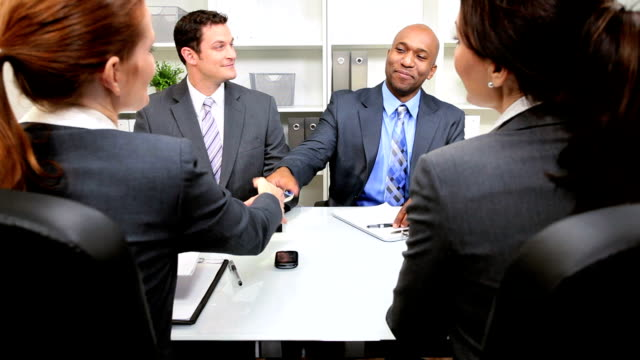 Multi Ethnic Legal Team with Clients video