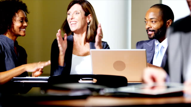 Multi Ethnic Meetings Business Atrium video