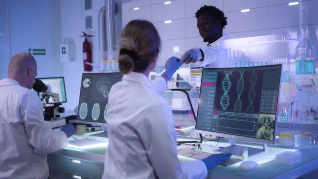 dna変異を研究する多民族研究チーム - 研究所点の映像素材/bロール