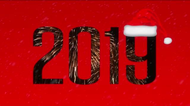 2019 マルチ露出デザイン - サンタの帽子点の映像素材/bロール