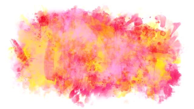 vídeos de stock, filmes e b-roll de multicolor abstrato - pintura em aquarela