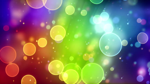 multicolor circle bokeh lights seamless loop background video