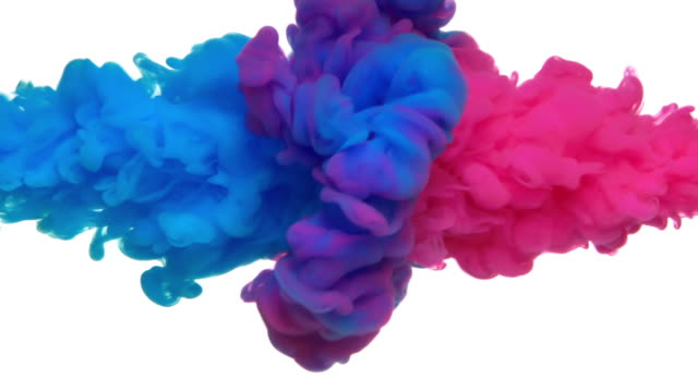 vídeos de stock e filmes b-roll de slow-mo: multicolor liquid flow - water splash