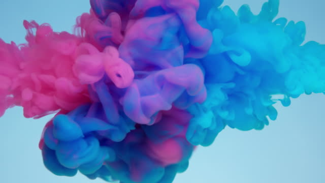 vídeos y material grabado en eventos de stock de slow-mo: flujo de líquido multicolor - rosa color