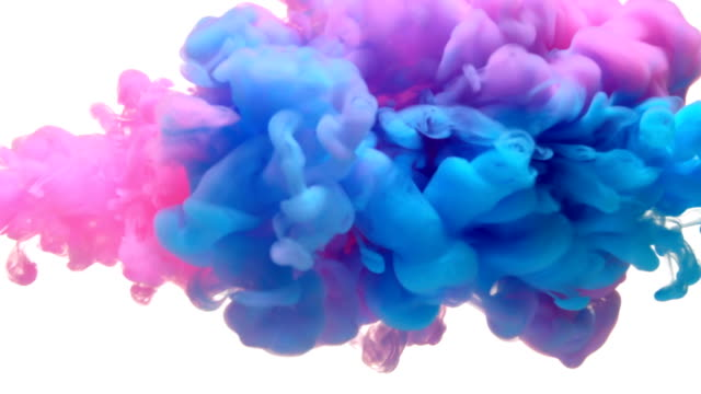 Video SLOW-MO: Multicolor liquid flow