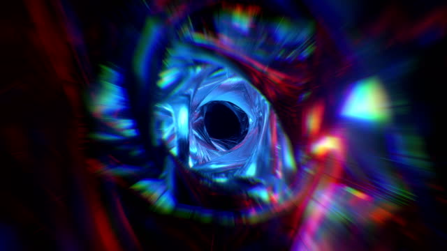 Multicolor tunnel background.