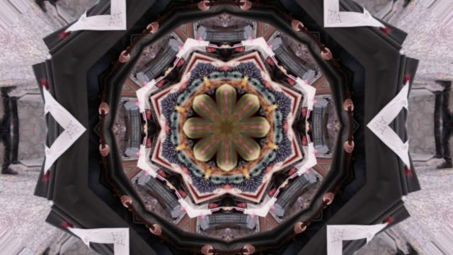 multicolored abstract background and movement with kaleidoscope effect - mandala filmów i materiałów b-roll