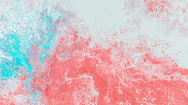 Multicolored acrylic paint. Slow motion. Fantastic surface. Abstract colorful paint. Top view