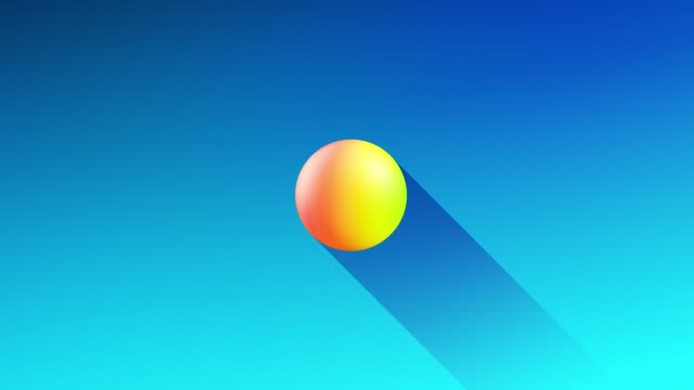 multi-colored balls or bubbles with popular gradient colors and in subsurface glow material fly in the air merge like drops metaballs, spheres casting long shadows. 4k seamless looped background 17 video