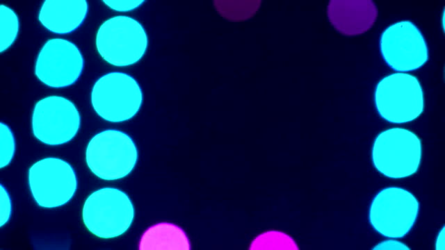 Multi-colored blinking lights 7 video