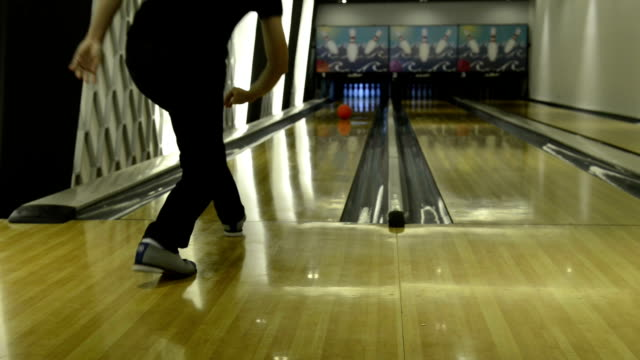 Multi-colored bowling balls and machine video