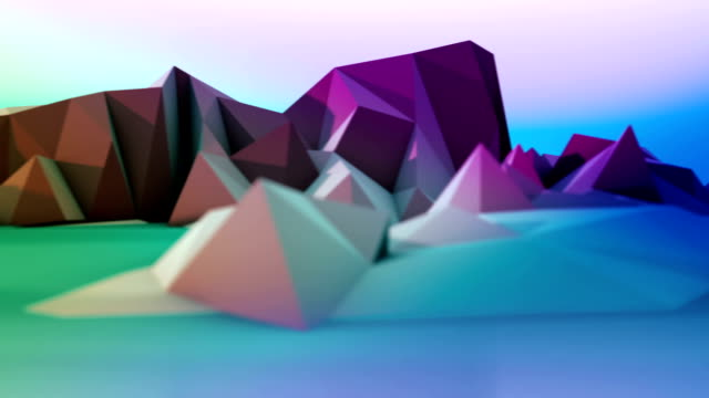 Fumetto montagne loopable panorama multicolore - video