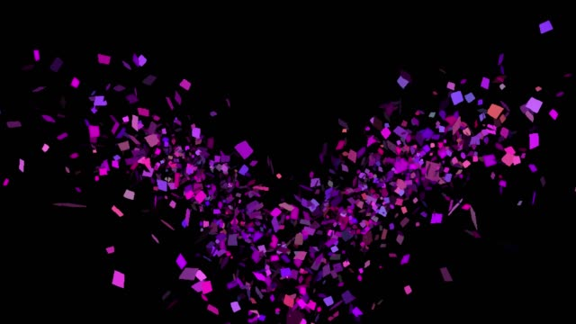 Multicolored Confetti Explosions in Alpha Channel Alpha channel will be included when downloading the 4K Apple ProRes 4444 file only birthday background stock videos & royalty-free footage