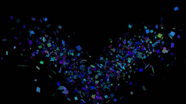 multicolored confetti explosions in alpha channel - trasparente video stock e b–roll