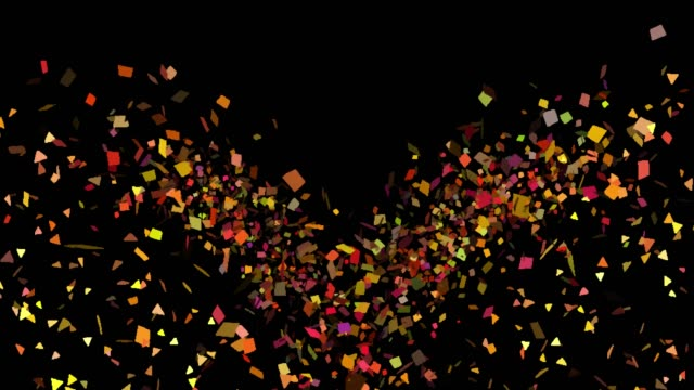Multicolored Confetti Explosions in Alpha Channel Alpha channel will be included when downloading the 4K Apple ProRes 4444 file only happy birthday stock videos & royalty-free footage