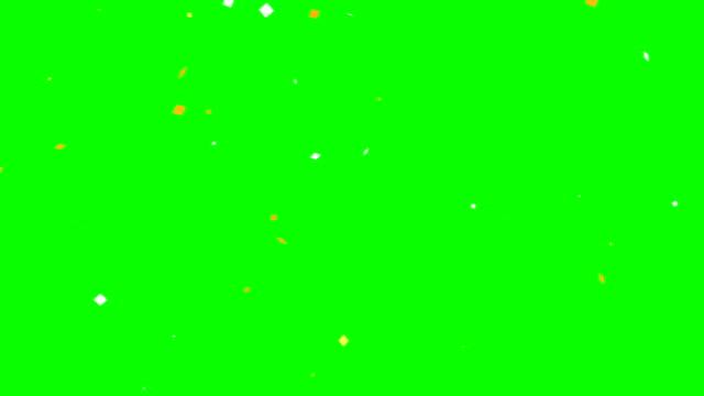 mångfärgade konfetti fallande grön skärm - hd format bildbanksvideor och videomaterial från bakom kulisserna